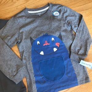 Carter's Shirts & Tops - NWT Carter's Monster Sweatshirt And Long Sleeve